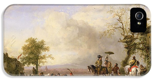 Celebration iPhone 5 Cases - The Peasant Wedding Oil On Canvas iPhone 5 Case by Fritz van der Venne