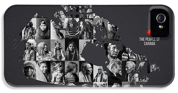 Native American Indian iPhone 5 Cases - The People Of Canada iPhone 5 Case by Aged Pixel