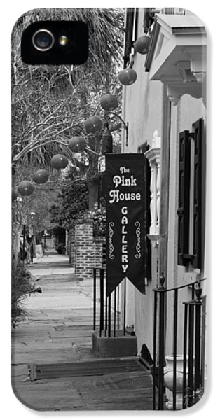 The White House Photographs iPhone 5 Cases - The Pink House Gallery - Black and White iPhone 5 Case by Suzanne Gaff