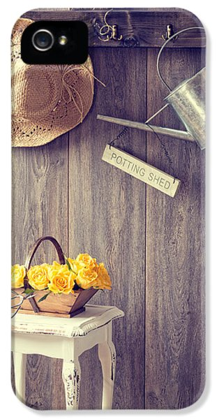 Potting Shed iPhone 5 Cases - The Potting Shed iPhone 5 Case by Amanda And Christopher Elwell