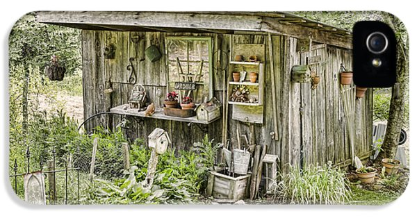 Potting Shed iPhone 5 Cases - The Potting Shed iPhone 5 Case by Heather Applegate