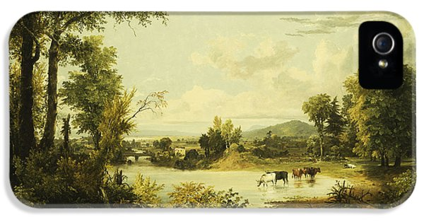 Roaming iPhone 5 Cases - The Quiet Valley iPhone 5 Case by Jasper Francis Cropsey