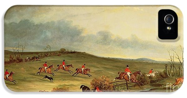Control iPhone 5 Cases - The Quorn in full cry near Tiptoe Hill iPhone 5 Case by John E Ferneley