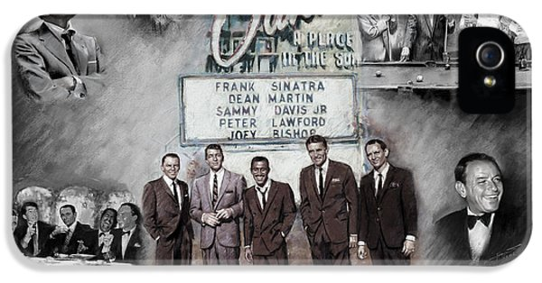 Actor iPhone 5 Cases - The Rat Pack iPhone 5 Case by Viola El