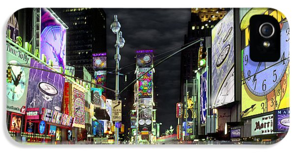 Times Square iPhone 5 Cases - The Real Time Square iPhone 5 Case by Mike McGlothlen