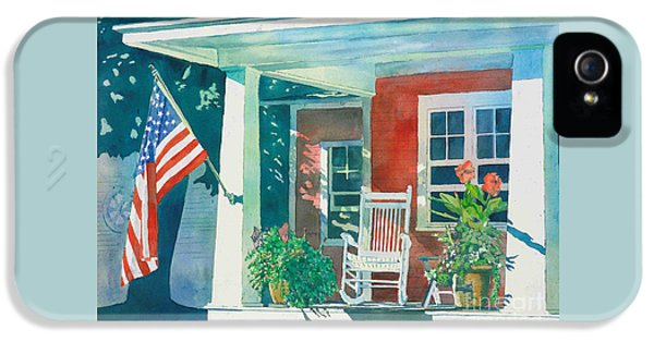 Porch iPhone 5 Cases - The Red Cottage iPhone 5 Case by LeAnne Sowa