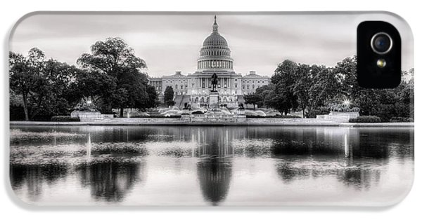 House Of Representatives iPhone 5 Cases - The Republic Awakens BW iPhone 5 Case by JC Findley