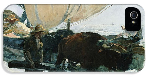 Blowing iPhone 5 Cases - The Return from Fishing iPhone 5 Case by Joaquin Sorolla y Bastida
