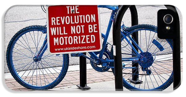 Bicycle iPhone 5 Cases - The Revolution Will Not Be Motorized iPhone 5 Case by Rona Black