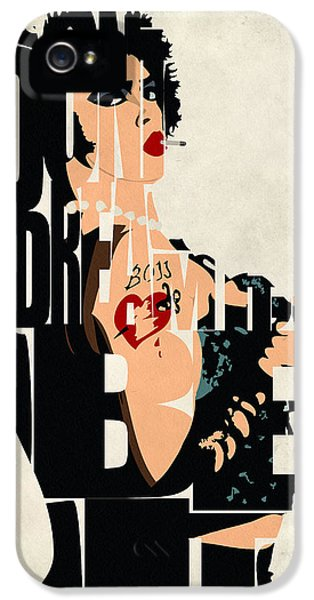 Character iPhone 5 Cases - The Rocky Horror Picture Show - Dr. Frank-N-Furter iPhone 5 Case by Ayse Deniz