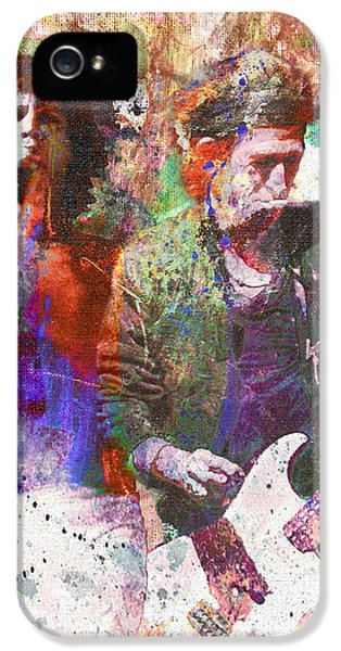 Rock Art iPhone 5 Cases - The Rolling Stones Original Painting Print  iPhone 5 Case by Ryan RockChromatic