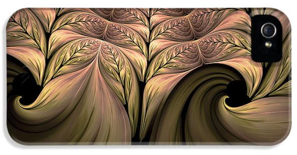 Asymmetrical iPhone 5 Cases - The Secret World Of Plants Abstract iPhone 5 Case by Georgiana Romanovna