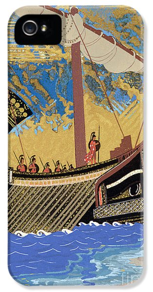 Ashore iPhone 5 Cases - The Ship of Odysseus iPhone 5 Case by Francois-Louis Schmied
