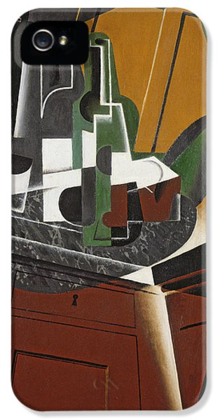 Fragment iPhone 5 Cases - The Sideboard, 1917 Oil On Plywood iPhone 5 Case by Juan Gris