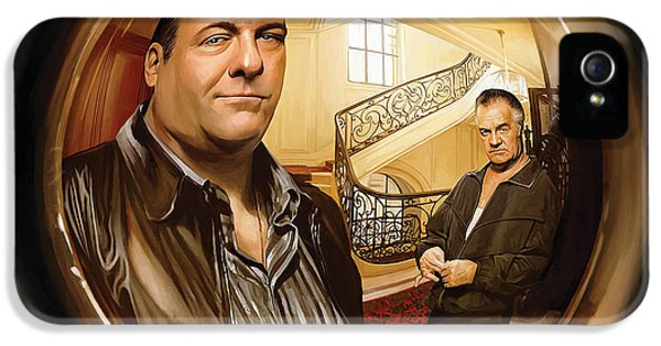Tony Soprano iPhone 5 Cases - The Sopranos  Artwork 1 iPhone 5 Case by Sheraz A