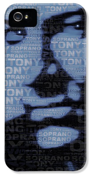 Tony Soprano iPhone 5 Cases - The Sopranos Tony Soprano iPhone 5 Case by Tony Rubino