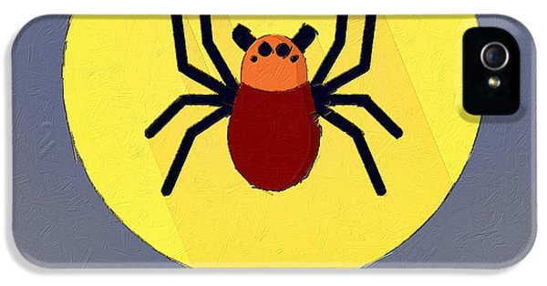 Spider iPhone 5 Cases - The Spider Cute Portrait iPhone 5 Case by Florian Rodarte