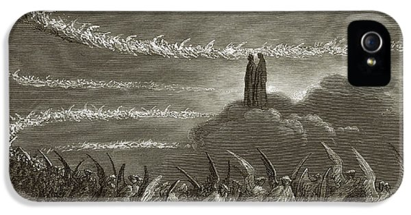 Circling iPhone 5 Cases - The Spirits in Jupiter iPhone 5 Case by Gustave Dore
