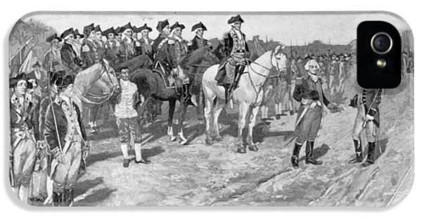 American Revolution iPhone 5 Cases - The Surrender Of Cornwallis At Yorktown, Illustration From The Surrender Of Cornwallis, Pub iPhone 5 Case by Howard Pyle