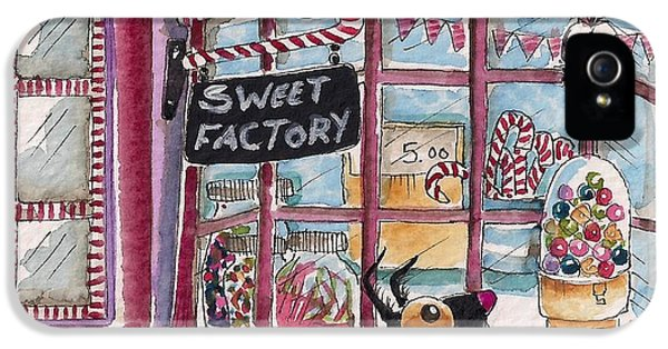 Store Front iPhone 5 Cases - The Sweet Factory iPhone 5 Case by Lucia Stewart