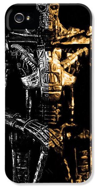 Automation iPhone 5 Cases - The Terminator silver and gold iPhone 5 Case by Toppart Sweden