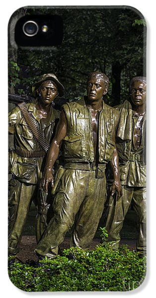 Vietnam War iPhone 5 Cases - The Three Soldiers iPhone 5 Case by John Greim