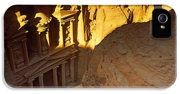 Al-khazneh iPhone 5 Cases - The Treasury At Petra, Wadi Musa, Jordan iPhone 5 Case by Panoramic Images