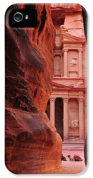 Al-khazneh iPhone 5 Cases - The Treasury of Petra iPhone 5 Case by Gunnar Everson