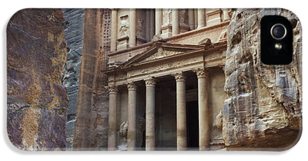 Al-khazneh iPhone 5 Cases - The Treasury Through The Rocks, Wadi iPhone 5 Case by Panoramic Images