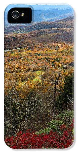 Road iPhone 5 Cases - The View from Grandfather Mountain iPhone 5 Case by Andres Leon
