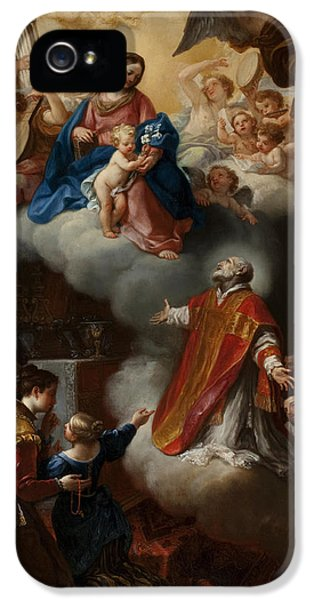 The Vision Of St. Philip Neri, 1721 IPhone 5 / 5s Case by Marco Benefial