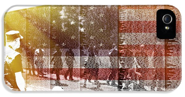 Vietnam Memorial iPhone 5 Cases - The Wall iPhone 5 Case by Tom Gari Gallery-Three-Photography