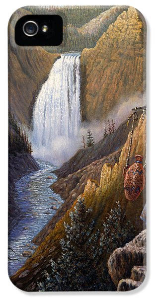 Native American Woman iPhone 5 Cases - The Water Carrier Yellowstone iPhone 5 Case by Gregory Perillo
