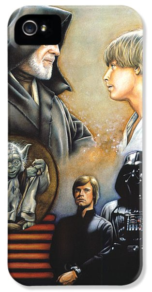 War iPhone 5 Cases - The Way of the Force iPhone 5 Case by Edward Draganski
