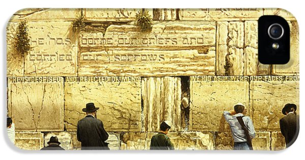 The Western Wall  Jerusalem IPhone 5 / 5s Case by Graham Braddock