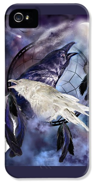 The White Raven IPhone 5 / 5s Case by Carol Cavalaris