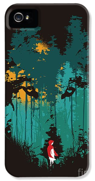 Bad iPhone 5 Cases - The woods belong to me iPhone 5 Case by Budi Kwan