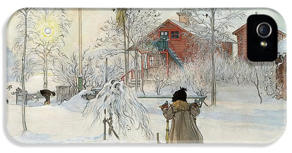 Washed iPhone 5 Cases - The Yard and Wash House iPhone 5 Case by Carl Larsson