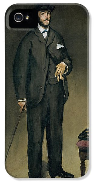 Glove iPhone 5 Cases - Theodore Duret 1838-1927 Oil On Canvas iPhone 5 Case by Edouard Manet
