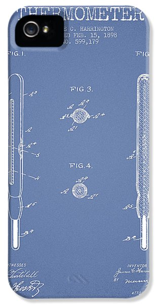 Medical iPhone 5 Cases - Thermometer patent from 1898 - Light Blue iPhone 5 Case by Aged Pixel