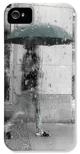 Rain.window iPhone 5 Cases - Thinking Green iPhone 5 Case by Jerry Cordeiro