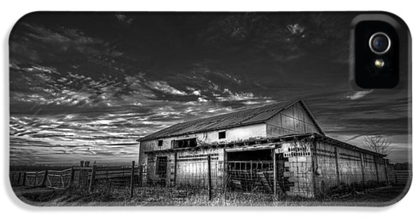 Farmland iPhone 5 Cases - This Old Barn-b/w iPhone 5 Case by Marvin Spates