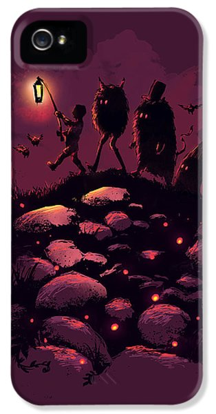 Monster iPhone 5 Cases - This Way Guys iPhone 5 Case by Budi Kwan