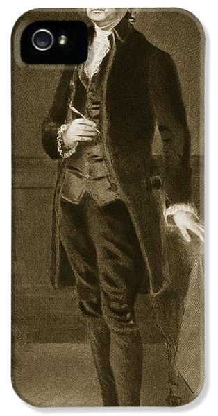 President Of The United States iPhone 5 Cases - Thomas Jefferson iPhone 5 Case by Eliphalet Frazer Andrews
