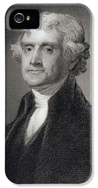 Thomas Jefferson IPhone 5 / 5s Case by Gilbert Stuart