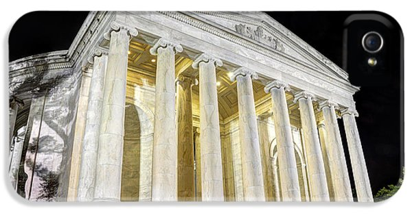 District Columbia iPhone 5 Cases - Thomas Jefferson Memorial at Night  iPhone 5 Case by Gary Whitton