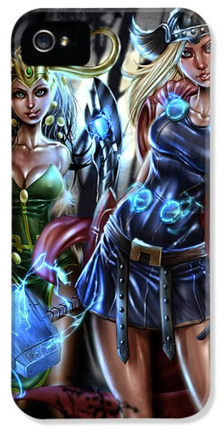 Thor And Loki IPhone 5 / 5s Case by Pete Tapang