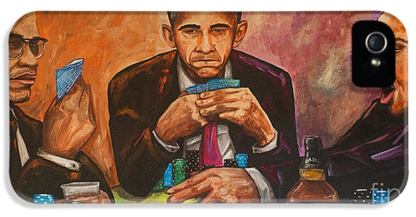 Obama iPhone 5 Cases - Three Kings Full House iPhone 5 Case by Chuck Styles