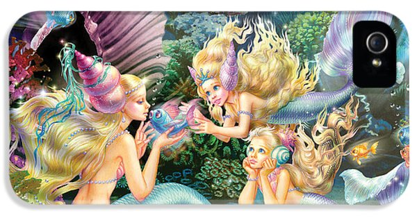 Three iPhone 5 Cases - Three Mermaids iPhone 5 Case by Zorina Baldescu