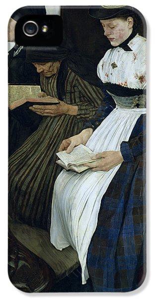 Three iPhone 5 Cases - Three Women in Church iPhone 5 Case by Wilhelm Maria Hubertus Leibl